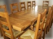 Реставрация и лакировка столов и встульев.