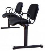 Кресло для посетителей с подставкой AZIZ METAL BIZNES
